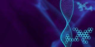Concepto espiral genético ilustración del vector