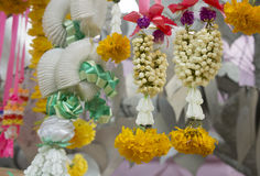 Concepto espiritual de la adoración de la flor de la decoración de la guirnalda Fotos de archivo