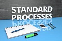 Concepto estándar del texto de los procesos ilustración del vector
