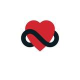 Concepto eterno del amor, símbolo del vector creado con lo del infinito stock de ilustración