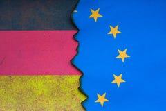 Concepto euro alemán de la bandera Foto de archivo libre de regalías