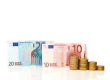 Concepto euro del dinero Imagenes de archivo