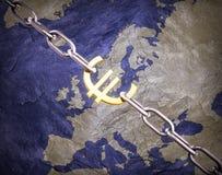 Concepto euro del dinero en circulación Imágenes de archivo libres de regalías