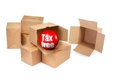 Concepto exento de impuestos Fotografía de archivo libre de regalías