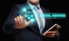 Concepto experto de Internet del negocio de la ley del asesoramiento jurídico imagenes de archivo