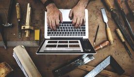 Concepto experto de Profession Occupation Pursuit del artesano Imágenes de archivo libres de regalías