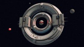 Concepto extranjero del UFO de la nave espacial Fotografía de archivo