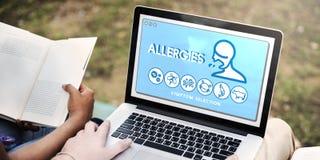 Concepto extremadamente sensible de la infección de la atención sanitaria de la sensibilidad de la alergia Foto de archivo