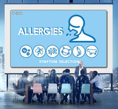 Concepto extremadamente sensible de la infección de la atención sanitaria de la sensibilidad de la alergia Fotos de archivo