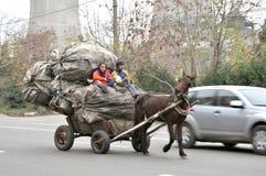 Concepto extremo de la pobreza en Rumania Fotografía de archivo libre de regalías