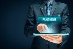 Concepto falso de las noticias fotografía de archivo libre de regalías