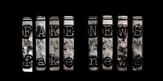 Concepto falso de las noticias Fotografía de archivo