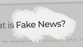 Concepto falso de las noticias Noticias falsas en el contenido y los títulos de diversos sitios de los medios de noticias ilustración del vector