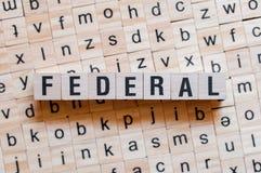 Concepto federal de la palabra imágenes de archivo libres de regalías