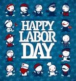 Concepto feliz de la tarjeta del Día del Trabajo ilustración del vector