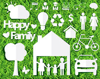 Concepto feliz de las ideas de la familia del vector Foto de archivo libre de regalías