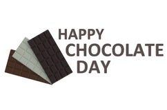 Concepto feliz del día del chocolate Fotografía de archivo