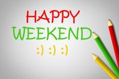 Concepto feliz del fin de semana Imagen de archivo libre de regalías