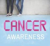 Concepto femenino de la enfermedad del problema de la conciencia del cáncer Imágenes de archivo libres de regalías