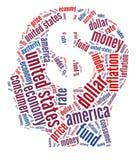 Concepto financiero americano Imágenes de archivo libres de regalías