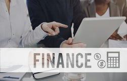 Concepto financiero de la contabilidad del presupuesto de la economía de las finanzas imagenes de archivo
