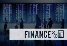 Concepto financiero de la contabilidad del presupuesto de la economía de las finanzas fotos de archivo