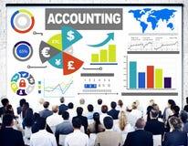 Concepto financiero de la economía del negocio bancario del análisis de contabilidad Fotografía de archivo libre de regalías