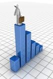 Concepto financiero de la gota del asunto de la recesión de la economía Imagen de archivo
