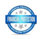 Concepto financiero de la muestra del sello de la protección Fotografía de archivo libre de regalías