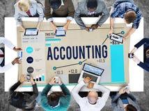 Concepto financiero de los ingresos de las actividades bancarias de la economía de la contabilidad Fotos de archivo