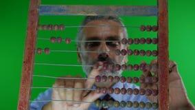 Concepto financiero del ábaco almacen de metraje de vídeo