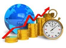 Concepto financiero del éxito stock de ilustración