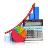 Concepto financiero del éxito y de estadísticas Fotos de archivo