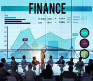 Concepto financiero del beneficio de negocio bancario del dinero de las finanzas imagenes de archivo
