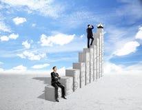 Concepto financiero del crecimiento y del éxito Fotos de archivo