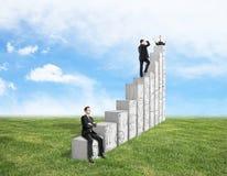 Concepto financiero del crecimiento y del éxito Fotografía de archivo