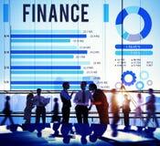 Concepto financiero del dinero de la inversión de la economía de las finanzas imagen de archivo
