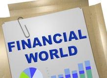 Concepto financiero del mundo stock de ilustración