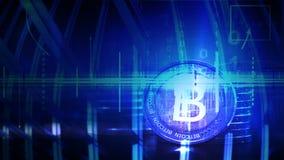 concepto financiero del oro 3D con Bitcoins de oro ilustración del vector