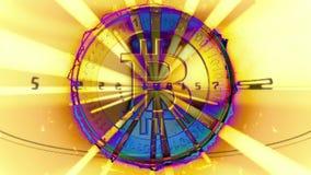 concepto financiero del oro 3D con Bitcoins de oro stock de ilustración