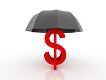 Concepto financiero del seguro stock de ilustración
