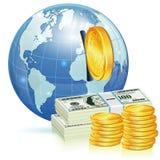 Concepto financiero global Fotos de archivo