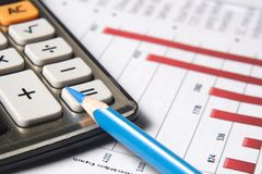 Concepto financiero o de contabilidad Fotografía de archivo libre de regalías