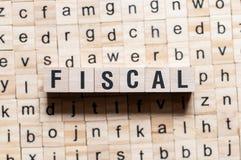 Concepto fiscal de la palabra foto de archivo libre de regalías