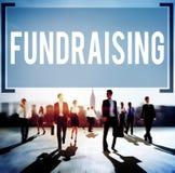 Concepto Fundraising de la donación de la economía de las finanzas de la financiación imagenes de archivo