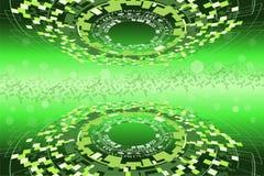 Concepto futurista de la ciencia de la alta tecnología y de los datos stock de ilustración