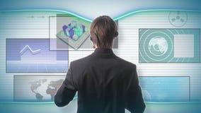 Concepto futurista de la tecnología metrajes