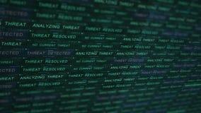 Concepto futurista de la tecnología del servidor de Digitaces - la ciberdelincuencia que lucha ataca V1 metrajes