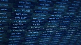 Concepto futurista de la tecnología del servidor de Digitaces - manejo de V1 en línea de votación metrajes