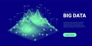Concepto futurista de tecnolog?a de Quantum stock de ilustración